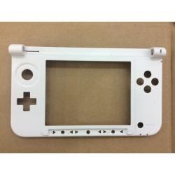 Coque 3DS XL - partie intérieure basse (charnière) - Blanche