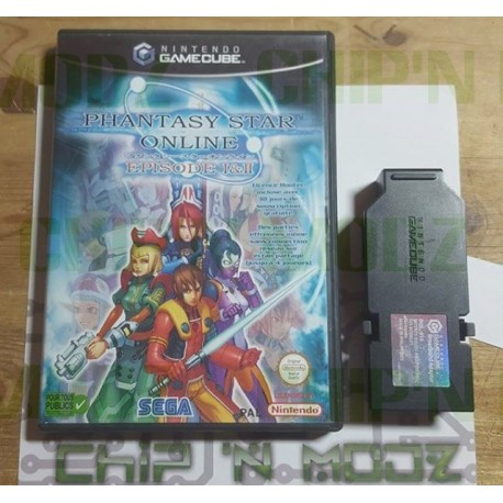 Phantasy Star Online 1 & 2 + Adaptateur Haut débit DOL-015 - Gamecube