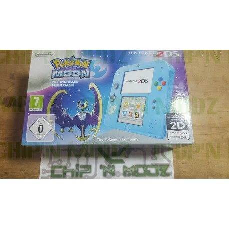 """Nintendo 2DS Édition limitée """"Pokémon Lune"""" - Occasion, très bon état"""