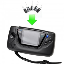 Réparation condensateurs Gamegear (kit complet)