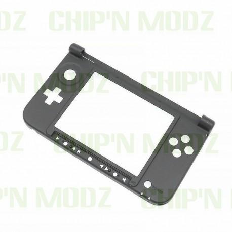 Coque 3DS XL - partie intérieure basse (charnière) - Noire
