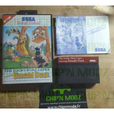 The Lucky Dime Caper, starring Donald Duck - COMPLET - Master system - Complet - En boite avec notice