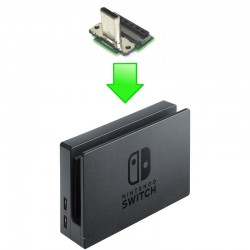 Réparation Port USB Type-C mâle Dock TV Nintendo Switch