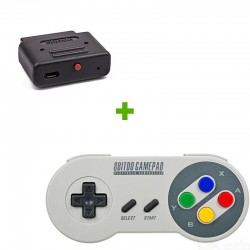 Manette SF30 + Retro Receiver SNES - 8bitdo
