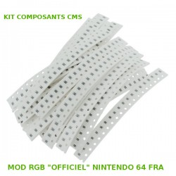 Kit composants CMS MOD RGB OFFICIEL N64 FRA