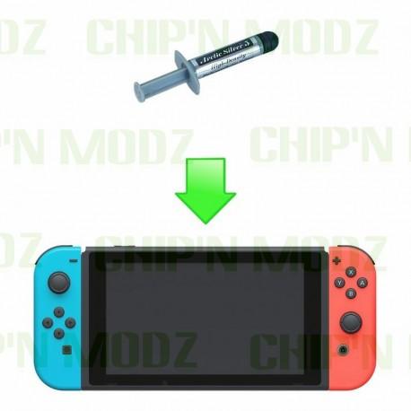 Remplacement pâte thermique Nintendo Switch - Nettoyage radiateurs