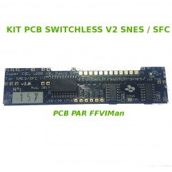 Kit PCB Switchless v2 FFVIMan - Super CIC, uIGR & Patch D4 - Super Nintendo / Super Famicom -