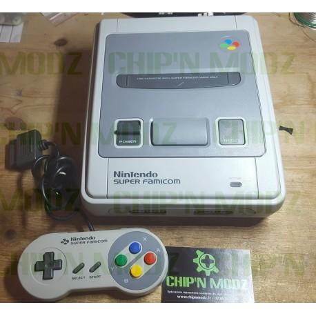 """Super Famicom """"One-Chip"""" Switchless - Super CIC, uIGR & Patch D4 -REGION FREE (Dézonée)"""