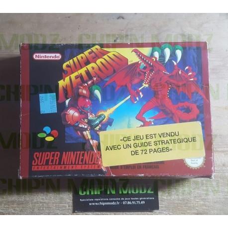 Super Metroid - En boite, sans notice - Version FAH, cartouche UKV