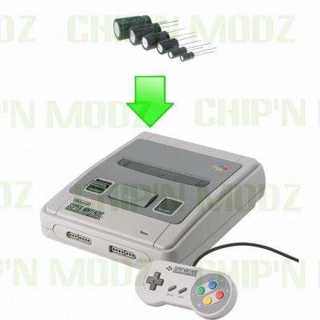 Remplacement Condensateurs Super Nintendo / Super Famicom