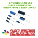 Kit condensateurs SNES PAL SNSP-CPU-01 & SNSP-CPU-02