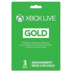 Carte d'abonnement Xbox Live 3 mois