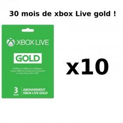 Cartes abonnement Xbox Live 30 mois (10x 3mois) - Cartes prépayées avec codes à gratter