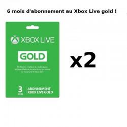 Cartes abonnement Xbox Live 6 mois (2x 3mois) - Cartes prépayées avec codes à gratter