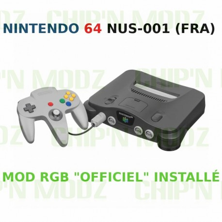 "Nintendo 64 FRA - Mod RGB ""Officiel"" - Console + Alim"