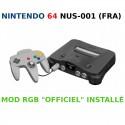 "Nintendo 64 Mod RGB ""Officiel"" - NUS-001 (FRA) - Complète"