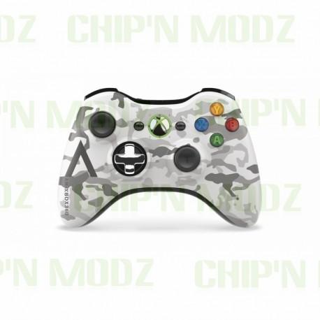 Manette Xbox 360 sans fil Camouflage Arctique - Édition limitée - Occasion