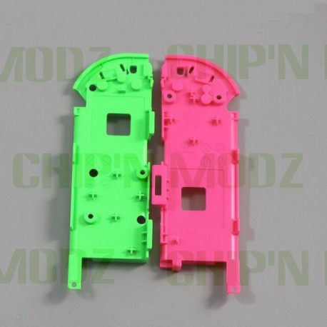 """Châssis central / Support batterie Joy-con """"splatoon"""" (Vert / Rose)"""