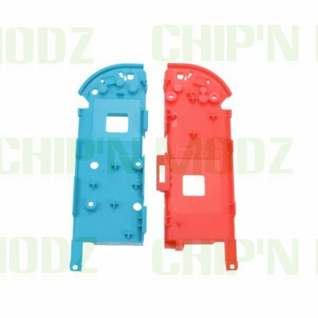 Châssis central / Support batterie Joy-con Bleu et Rouge Néon
