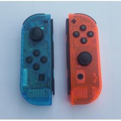 Joy-con Custom - Bleu / Rouge translucide - Remis à neuf