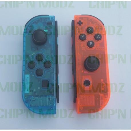 Joy-con Custom - Bleu / Rouge translucide - reconditonnés