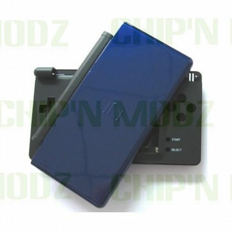 Coque complète DS Lite Bleu cobalt (noir et bleu)