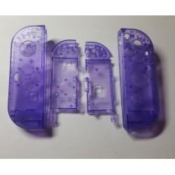Coques violettes transparentes Joy-Con Gauche & Droit