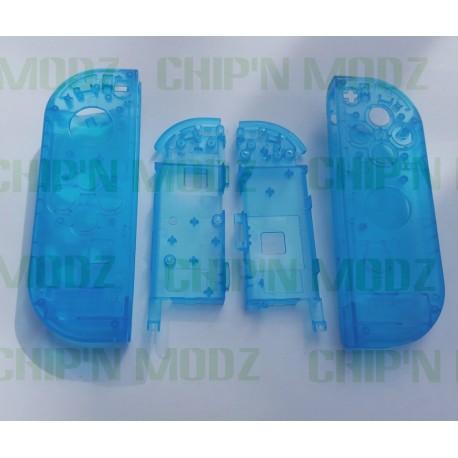 Coques bleues transparentes Joy-Con Gauche & Droit