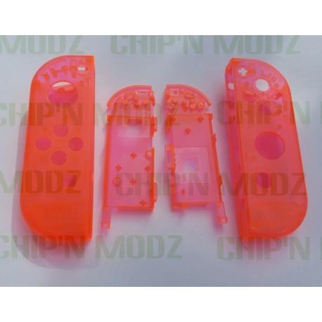 Coques rouges transparentes Joy-Con Gauche & Droit
