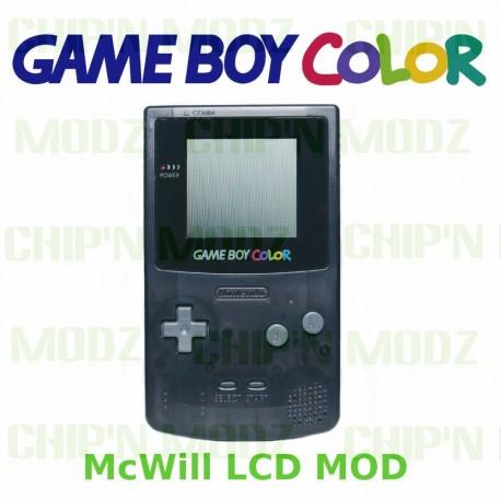 Gameboy Color McWill LCD - Écran rétro-éclairé + vitre en verre