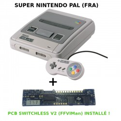 Super Nintendo Switchless (Dézonée) - Super CIC, uIGR & Patch D4 - REGION FREE - Version PAL Française