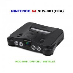 """N64 Mod RGB """"Officiel"""" - Console + Câble RGB + Alim (sans manette)"""