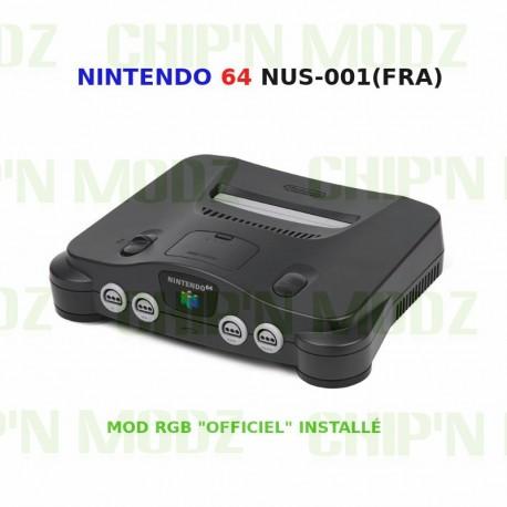 "Nintendo 64 Mod RGB ""Officiel"" - Console nue + Câble RGB"