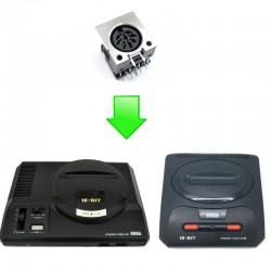 Réparation prise Audio Video (A/V) Mastersystem / Megadrive