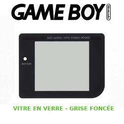 Vitre Gameboy, Grise Foncée - EN VERRE - Auto-Adhésive