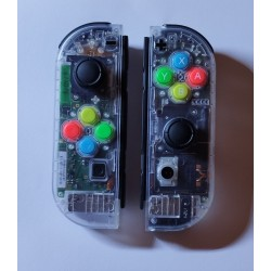 Joy-con Custom transparents - Remis à neuf