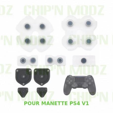 Caoutchoucs contact Boutons - Manette PS4 v1
