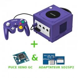 Gamecube dézonée (REGION FREE) - Puce Xeno GC installée + SD2SP2