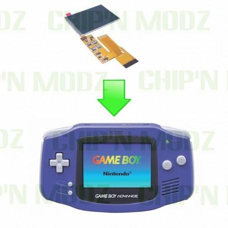 Installation écran IPS v2 Gameboy Advance - Écran rétroéclairé