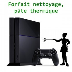 Forfait nettoyage/remplacement pate thermique PS4
