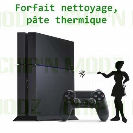Forfait nettoyage/remplacement pate thermique PS4