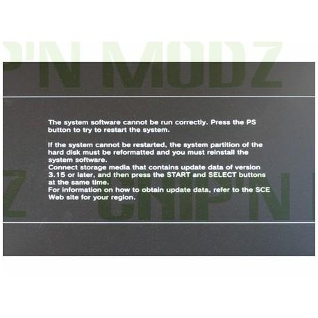 Réparation Système corrompu ou endommagé PS3/PS3 Slim/PS4