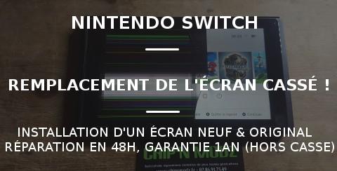 Réparation écran Nintendo Switch
